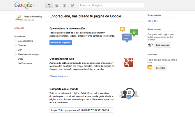 Retelur Marketing en Google+