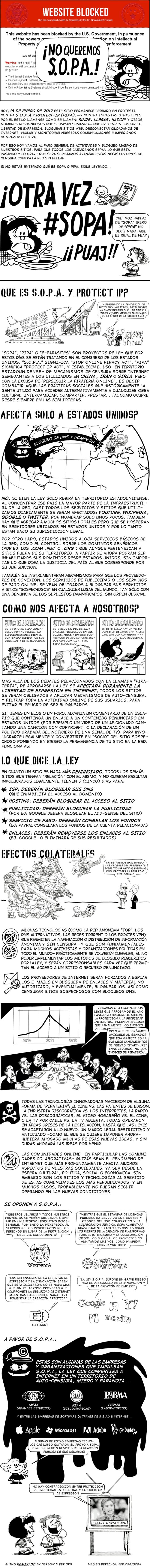 Derecho a Leer - Infografía SOPA