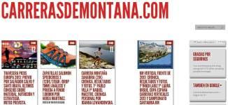 CARRERASDEMONTANA.COM: Pantallazo portada 12 Junio 2013