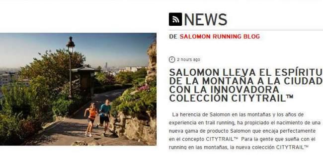 Salomon Running anunciaba así hoy en su web el lanzamiento del CITY TRAIL