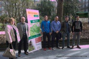 Estación trail País Vasco: Foto familia Diputación, Alcaldes y promotores